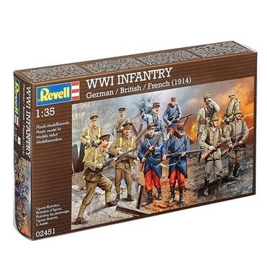 Revell Revell Maket 1:35 Infantry WWI  Renkli